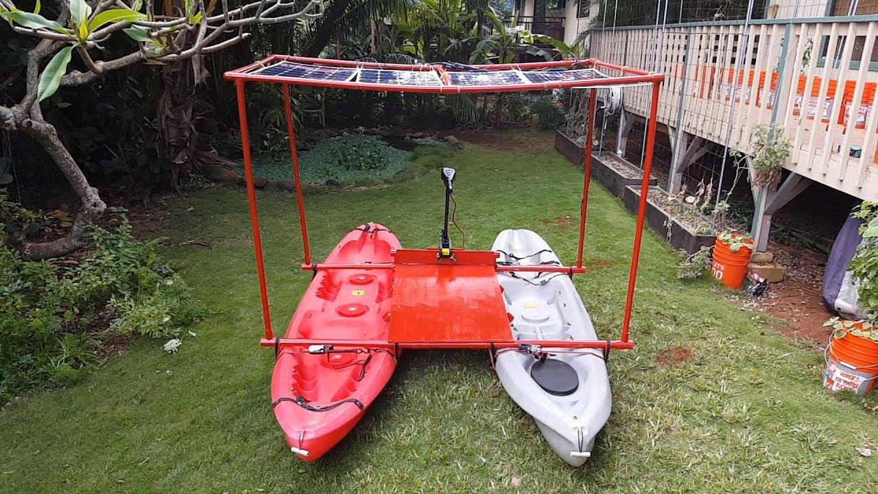 Solar Powered Kayak Catamaran
