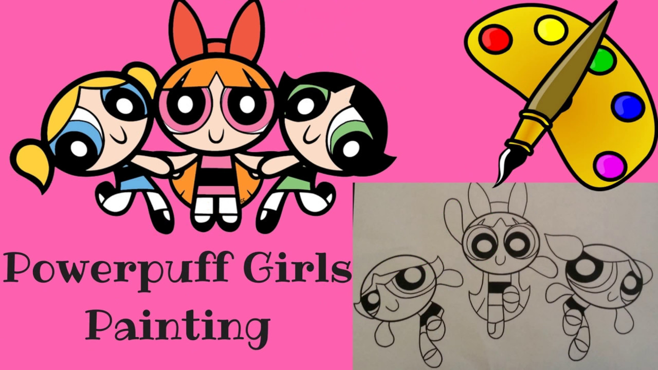 Powerpuff Girls Speed Paint - PPG Coloring Book Blossom Buttercup ...
