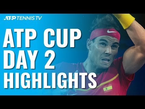 Nadal & Djokovic Open With Wins, Coric Beats Thiem In Thriller | ATP Cup 2020 Day 2 Highlights