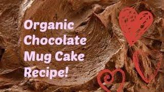 Healthy Organic Chocolate Mug Cake Recipe!