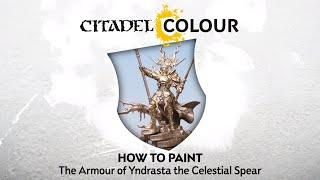 How to Paint Stormcast Eternals: Yndrasta, the Celestial Spear's Armour