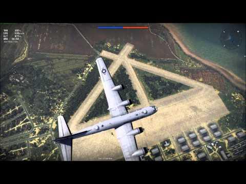 War Thunder B-29  carpet bombing test