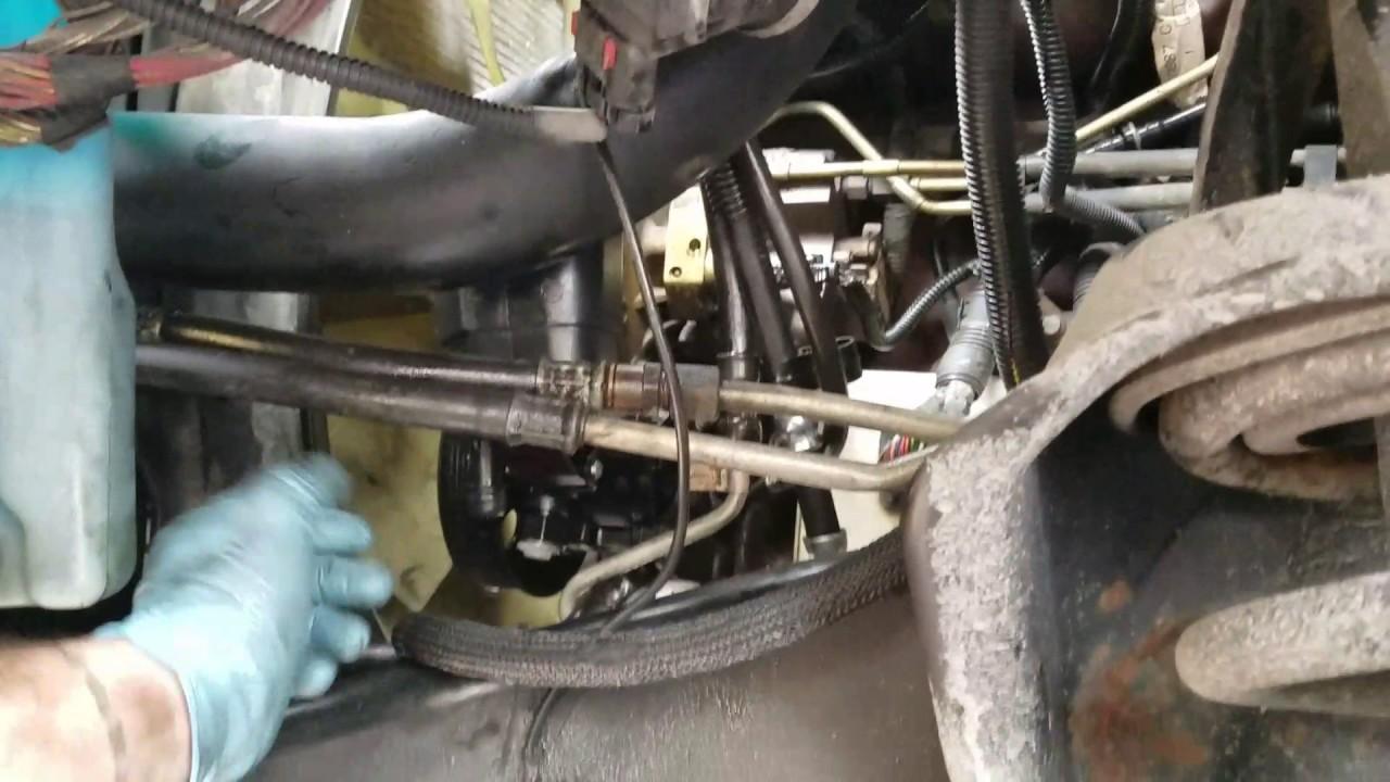 cummins steering pump install pt youtube