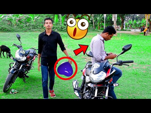Tyre Puncture Prank with Balloon Prank In public Reaction || ViaPrank
