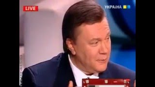Янукович рассказывает анекдоты