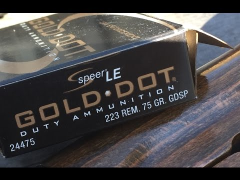 Remington, 75gr GDSP (24475), Speer Gold Dot Duty Ammunition, Velocity Test