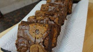 Easy Brookies - Chocolate Chip Cookie Brownies