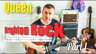 Brighton Rock - Queen Live Killers - Guitar Solo Tutorial Part One
