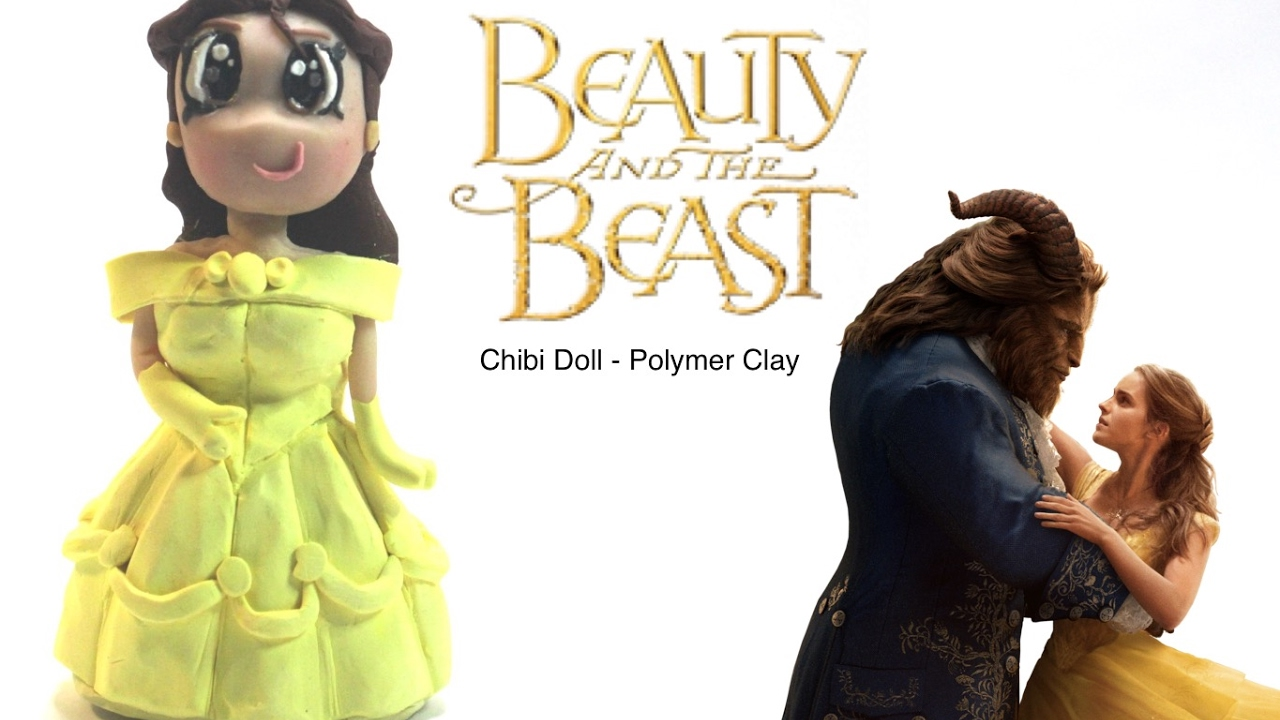 Awesome Disney Belle From Beauty And The Beast Chibi Doll   Polymer Clay ✓    TOYtally Awesome  