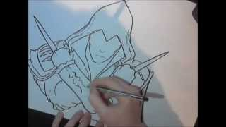 Drawing Ezio from Assassin