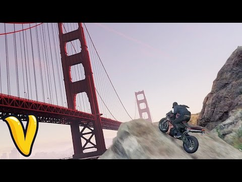 JUMPING OVER GOLDEN GATE BRIDGE! :: Watch Dogs 2 Funny Moments PS4 PRO!