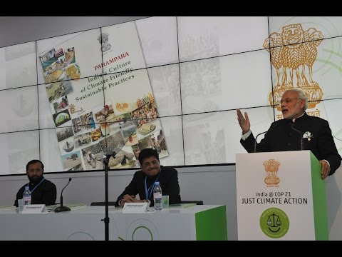 PM Modi's speech at the inauguration of India Pavilion at COP21 Summit'15 in Paris, France
