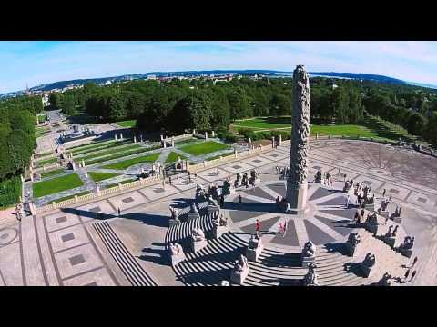Test flight with DJI Phantom 2 Vision at Frogner Park in Oslo
