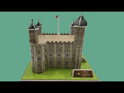 DIY Miniature Tower Of London U.K ~ 3D Paper Model