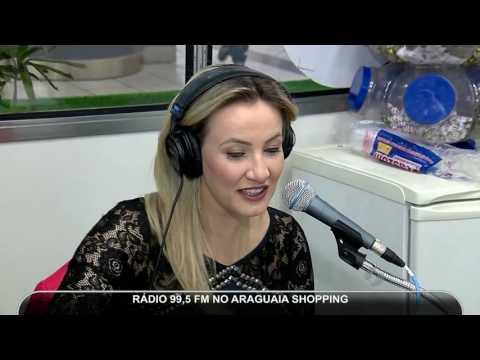 Estúdio móvel da Rádio 99,5 FM no Araguaia Shopping