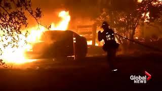 שריפות הענק בקליפורניה אלפי בתים עלו באש