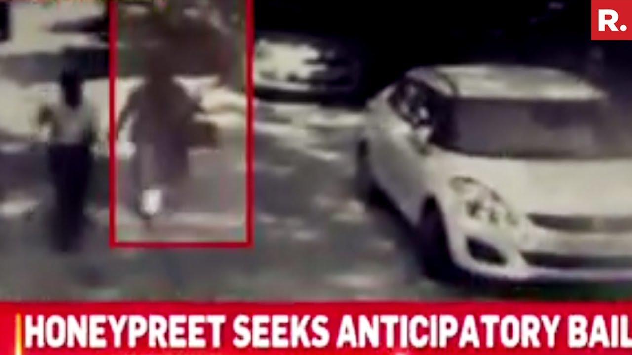 Honeypreet Caught Wearing Burqa – CCTV Footage