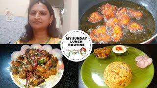 Indian Mom Sunday Lunch Vlog || Chicken 65 Recipe || Chicken Biryani Recipe