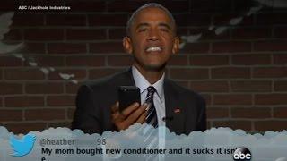 Obama Reads Mean Tweets on Jimmy Kimmel Live!