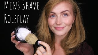 [ASMR] Mens Grooming Roleplay - Haircut, Shave + Eyebrows (Personal Attention)