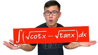 Integral of sqrt(cot(x))-sqrt(tan(x)), classic IIT JEE integral