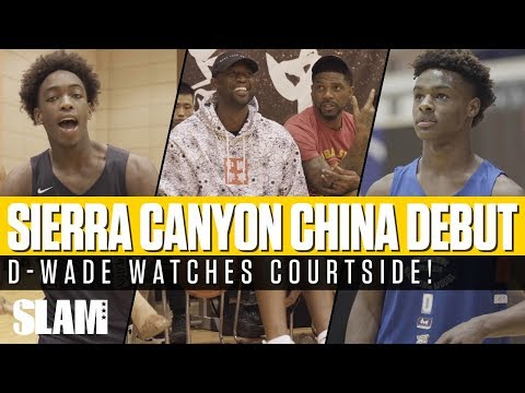 D-Wade Watches Bronny James & Zaire Wade's DEBUT with Sierra Canyon!?
