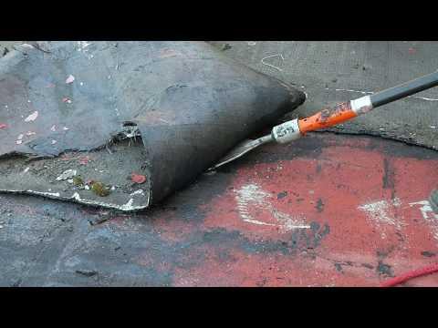 Retirer Une Membrane D Etancheite Bitumineuse Etancheite Scrap Air Youtube