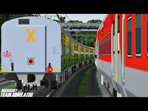 Amritsar - New Delhi Duronto Express    LKO WDM3A    MSTS Open Rails Journey Part 1