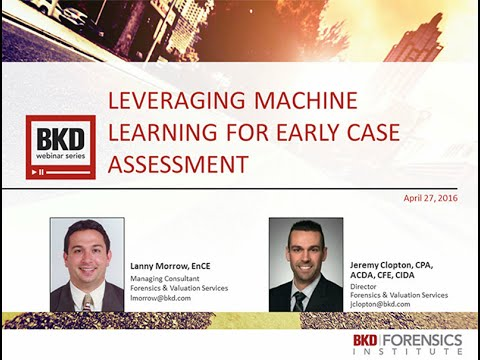 Leveraging Machine Learning for Early Case Assessment
