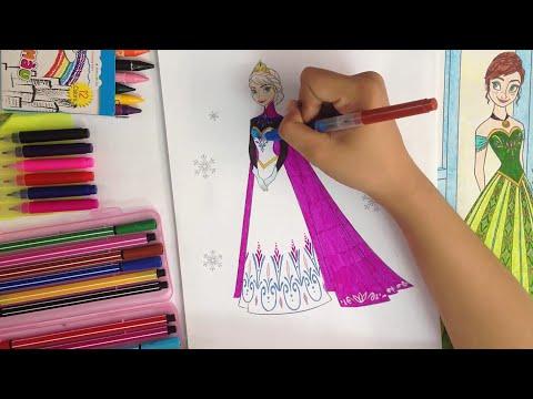 Bé Tập Tô Màu Công chúa Elsa - Nữ hoàng băng giá - Trò chơi sáng tạo