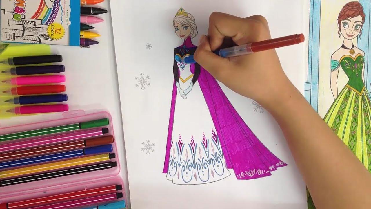 Bé Tập Tô Màu Công chúa Elsa – Nữ hoàng băng giá – Trò chơi sáng tạo