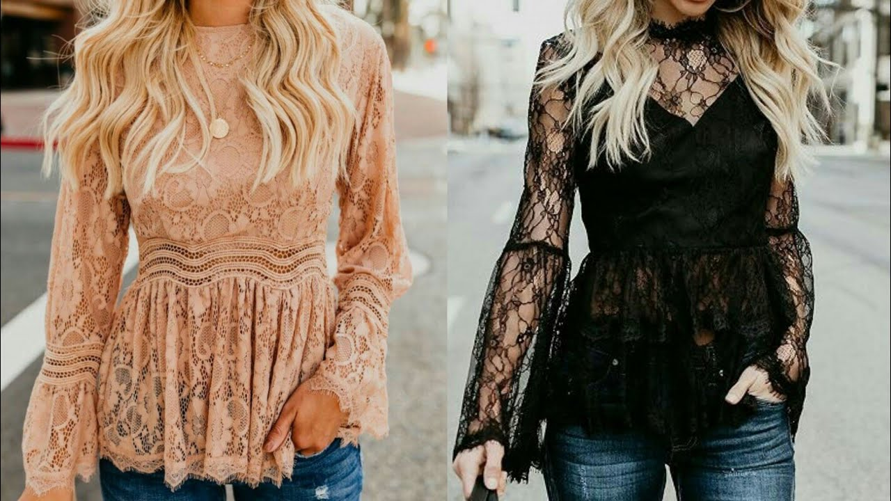 Elegant and graceful office wear lace blouses for business ladies #2020