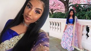 Spring Tamil/Indian Wedding Guest Glam | Get Ready With Me | Nivii06