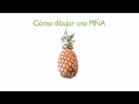 Cómo Dibujar una Piña : Frutas Dibujadas - YouTube