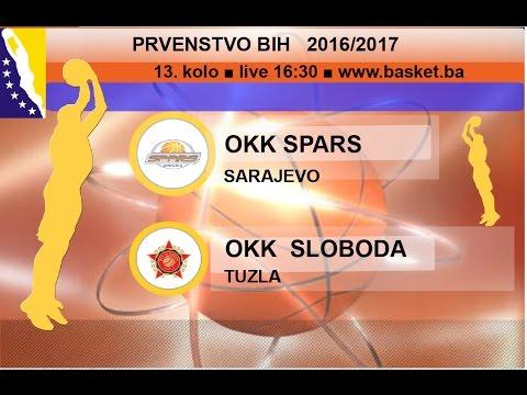 OKK Spars - OKK Sloboda | 13 KOLO | KSBIH 2016-17 | | LIVE 16:30