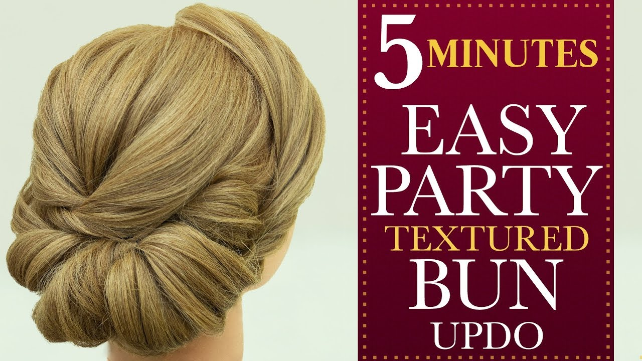 5 Minutes Party Bun Hairstyle Step By Step Hairstyle Tutorial