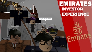 [ROBLOX] Flight with Emirates! Introducing the new Investor Suites!