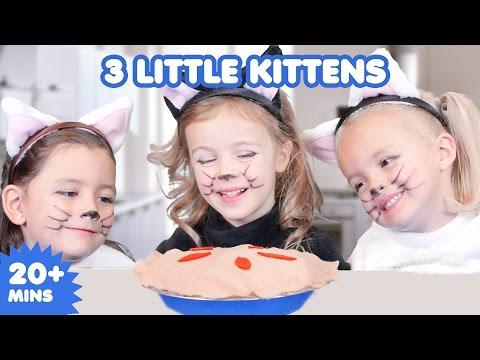 3 Little Kittens | Nursery Rhymes | Kids Songs