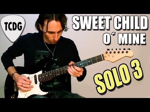 Como tocar Sweet Child O' Mine - Guns N' Roses - Solo 3!!! (parte 1) Clase de guitarra tutorial TCDG