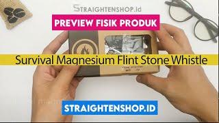 Outdoor Survival Magnesium Flint Stone Whistle Siul Korek api kemping