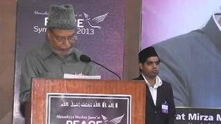 Speech in English on Efforts by the Khalifa of Islam for World Peace
