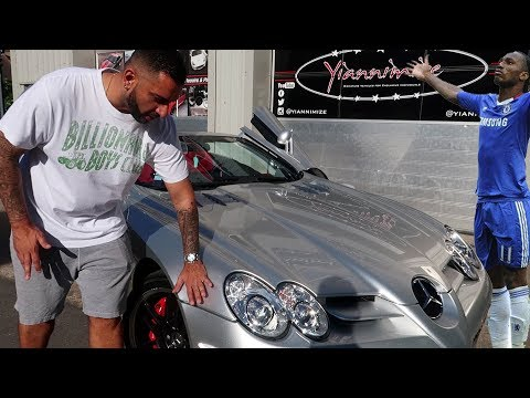Didier Drogba's Mercedes-Benz SLR McLaren Roadster stripped after 5 years