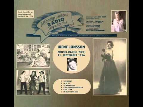 Irene Jønsson i Norsk Radio 1956