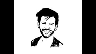 How to Draw Kartik Aaryan face pencil drawing step by step