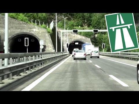CH / A2 Driveway to the Gotthard Tunnel (Göschenen Portal)