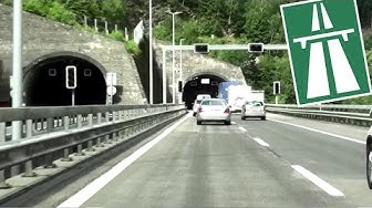CH / A2 Driveway to the Gotthard Tunnel (Göschenen Portal)
