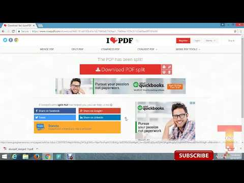 How to Merge & Split a PDF document into multiple files free?