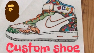 Custom Shoe: Bape Force One thumbnail