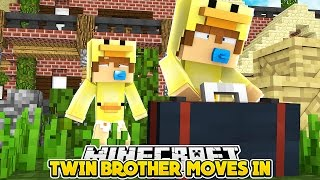 Minecraft Family #39 - MY CRAZY TWIN BROTHER MOVES INTO MY HOUSE - Baby Duck Custom Roleplay