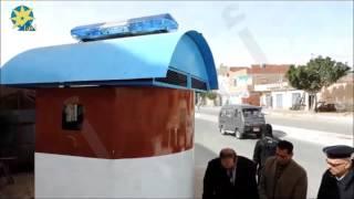 بالفيديو : أمن مطروح ينفذ أبراج حماية متحركة